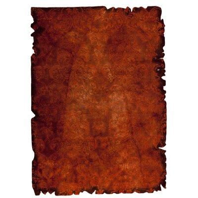 Jalwa 2 Hand-Tufted Rust Area Rug Rug Size: 52 x 76