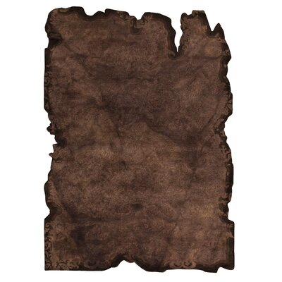 Jalwa 1 Hand-Tufted Dark Brown Area Rug Rug Size: 52 x 76