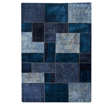 Renaissance Hand-Knotted Blue Area Rug Rug Size: 710 x 910