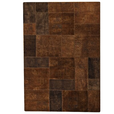 Renaissance Hand-Knotted Brown Area Rug Rug Size: 66 x 96