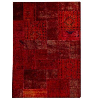 Renaissance Hand-Knotted Red Area Rug Rug Size: 710 x 910