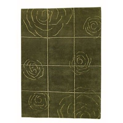 Rose Green Area Rug Rug Size: 46 x 66