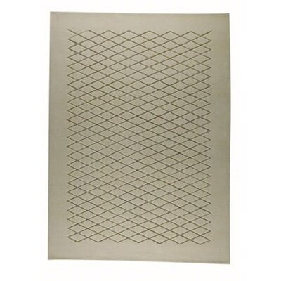 Rhodos White/Beige Area Rug Rug Size: Rectangle 46 x 66