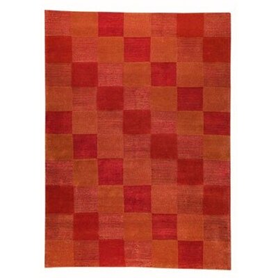Check Orange Rug Rug Size: 3 x 54