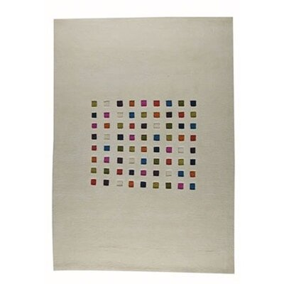 Mosaik White/Multi Rug Rug Size: 46 x 66