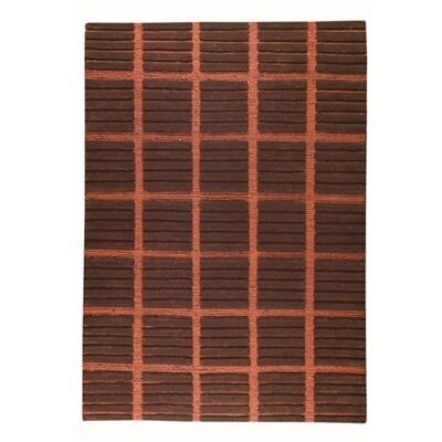 Piano Brown/Red Area Rug Rug Size: 56 x 710