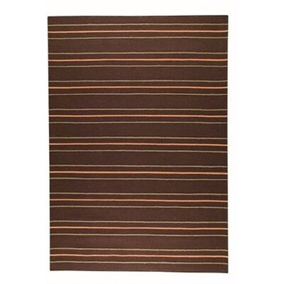 Savannah Striped Brown Area Rug Rug Size: 83 x 116