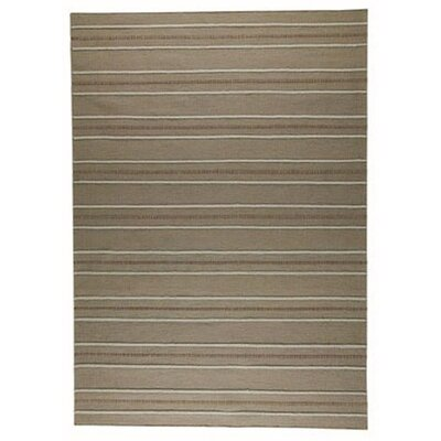 Savannah Striped Beige Area Rug Rug Size: Rectangle 83 x 116