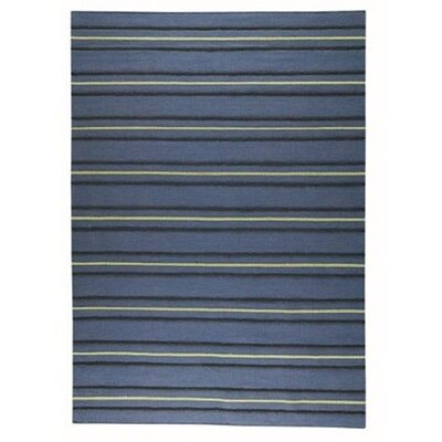 Savannah Striped Blue Area Rug Rug Size: Rectangle 83 x 116
