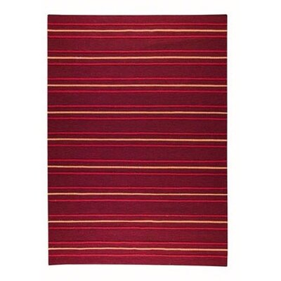 Savannah Striped Purple Area Rug Rug Size: Rectangle 83 x 116