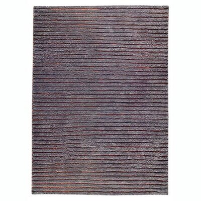 Division Grey Area Rug Rug Size: 83 x 116