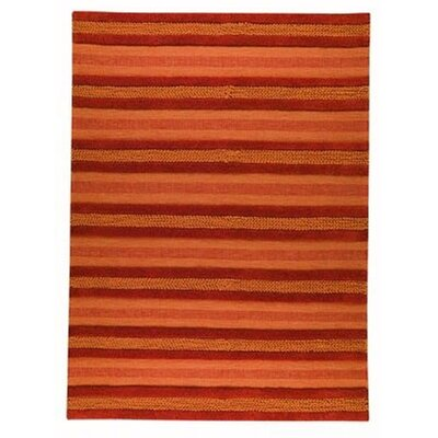 Grenada Orange Striped Area Rug Rug Size: 56 x 710