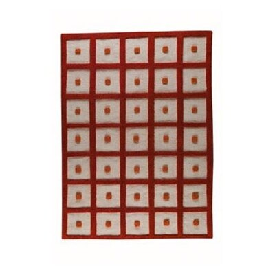 Orange Frame Area Rug Rug Size: 56 x 710