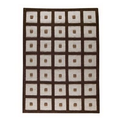 Brown Frame Area Rug Rug Size: 46 x 66
