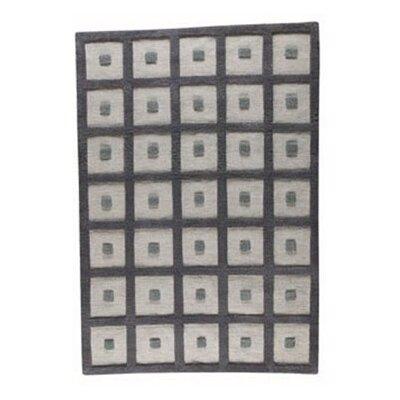 Grey Frame Area Rug Rug Size: 46 x 66