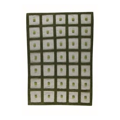 Green Frame Area Rug Rug Size: 46 x 66