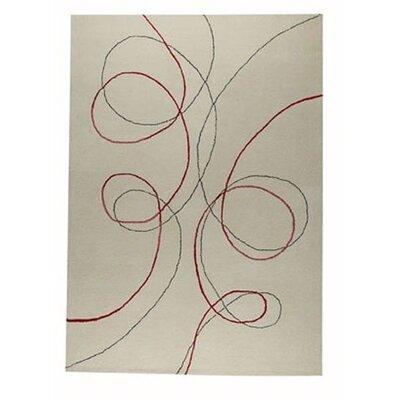 Script White Area Rug Rug Size: 56 x 710