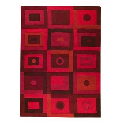 Mabry Red Area Rug Rug Size: 46 x 66