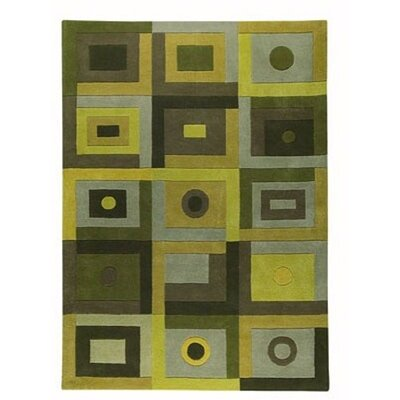 Berlin Green Area Rug Rug Size: 5'6