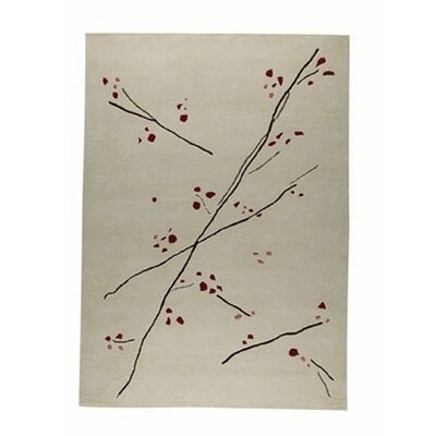 Inari White/Red Area Rug Rug Size: Rectangle 66 x 99
