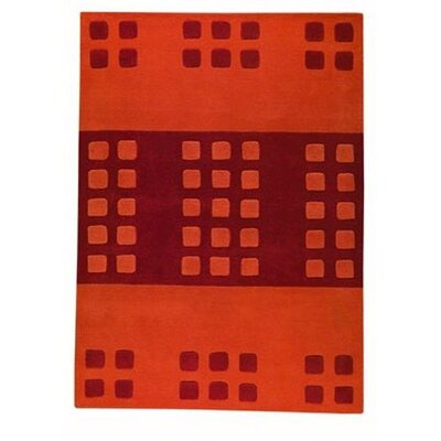 Orange Domino Area Rug Rug Size: 56 x 710