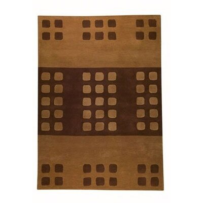 Beige/Brown Domino Area Rug Rug Size: Rectangle 56 x 710