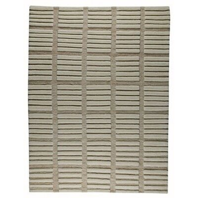 Piano White/Grey Area Rug Rug Size: 56 x 710