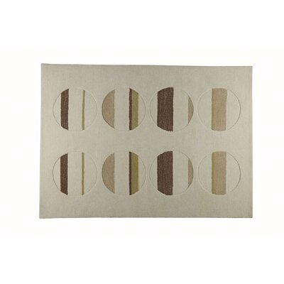 Horizon White / Brown Contemporary Rug - 46 x 66 Rug Size: 46 x 66