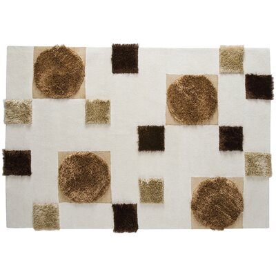 Anatolia White/Beige Area Rug Rug Size: Rectangle 46 x 66