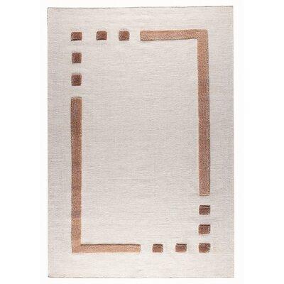 Caracas White / Beige Area Rug Rug Size: 66 x 99