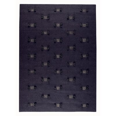 Eyelet Charcoal Area Rug Rug Size: Rectangle 46 x 66