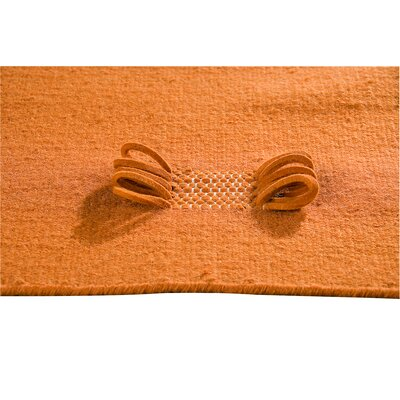 Eyelet Orange Area Rug Rug Size: 56 x 710
