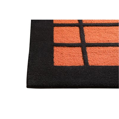 New York Rust/Charcoal Area Rug Rug Size: 4'6