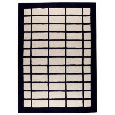 Guillory White/Charcoal Area Rug Rug Size: Rectangle 56 x 710