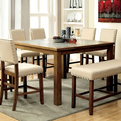 Casiodoro 7 Piece Counter Height Pub Dining Set