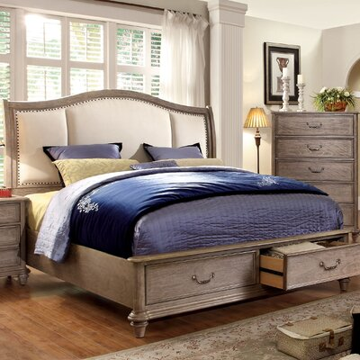Plaza Upholstered Storage Panel Bed