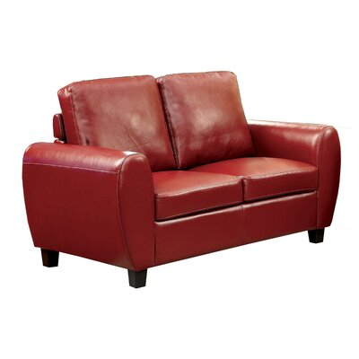 Nona Loveseat Upholstery: Red