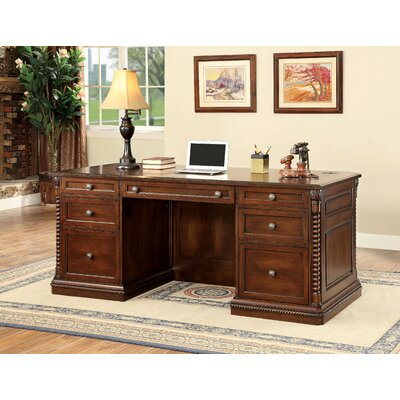 Info about Wood Executive Desk Product Photo