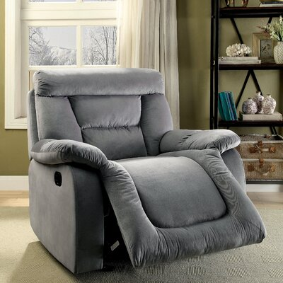 Dascomb Manual Glider Recliner Upholstery: Gray