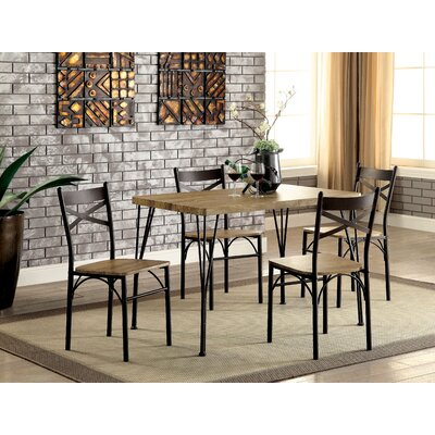 Dana Industrial 5 Piece Dining Set