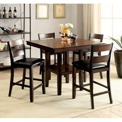 Daphne Transitional 5 Piece Counter Height Dining Set