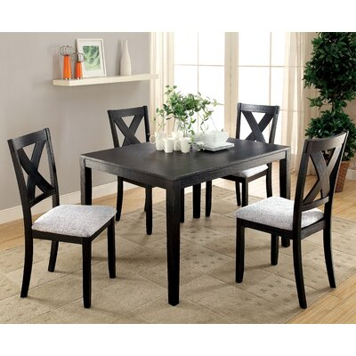 Zaftig Transitional 5 Piece Dining Set