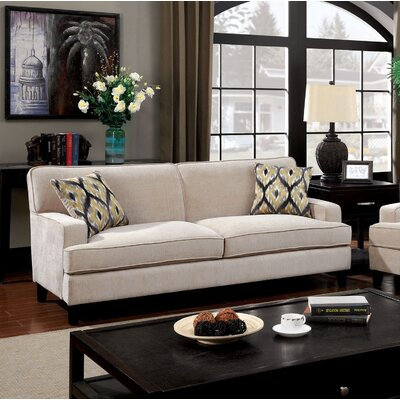 Leyna Modern Standard Sofa Upholstery: Ivory