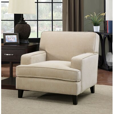 Leyna Modern Armchair Color: Ivory