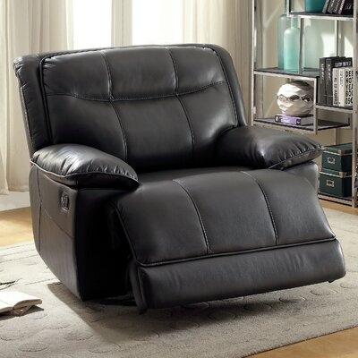 Dartmouth Transitional Recliner Upholstery: Gray