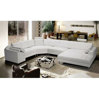 Vacaville Sectional Upholstery: White, Orientation: Right Arm Facing