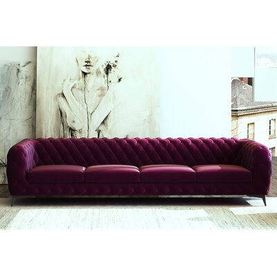Vennie Chesterfield Sofa Upholstery: Purple