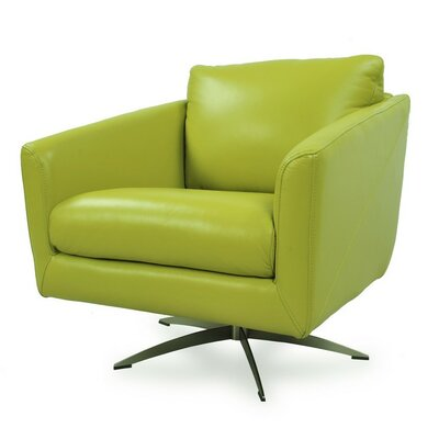 Hieu Top Grain Contemporary Swivel Armchair