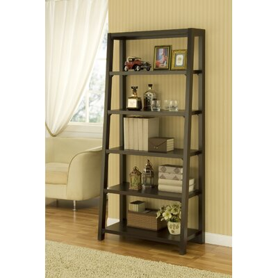 Hokku Designs Heida Five-Shelves Ladder Style Bookcase / Display Cabinet in Warm Coffee Bean at Sears.com