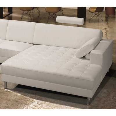 Vacaville Leather Chaise